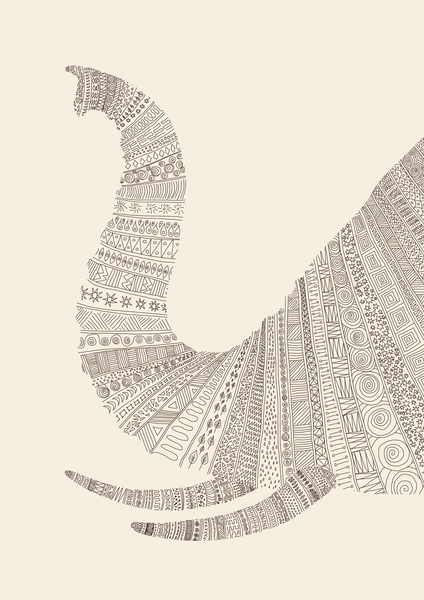 Elephant (on beige) by Florent Bodart - Speakerine