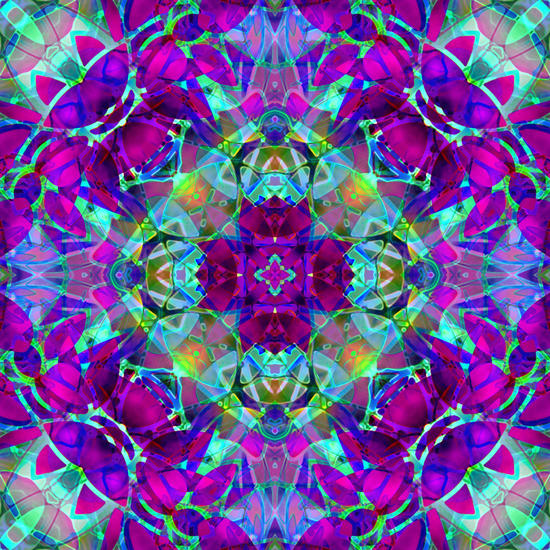 kaleidoscope Floral Abstract G16 by MedusArt