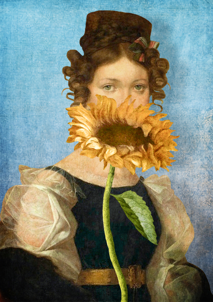 Girl with Sunflower 1 by DVerissimo