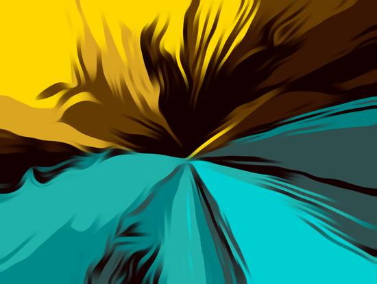 yellow green and brown splash painting texture abstract background by Timmy333