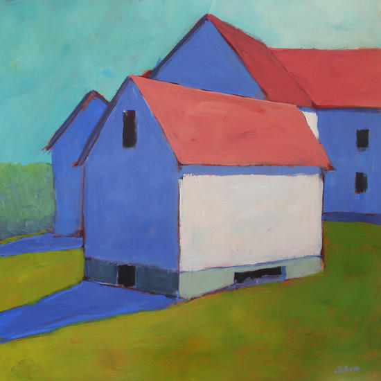 Indigo Shadows by Carol C Young. The Creative Barn