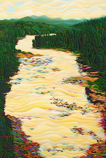 Kakabeca River Dance by Amy Ferrari Art