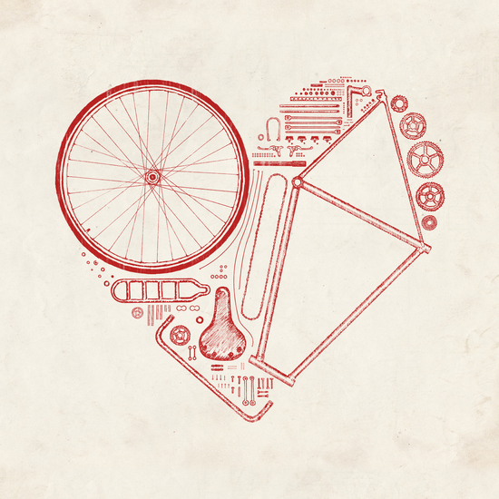Love Bike (Red) by Florent Bodart - Speakerine