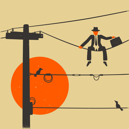 MAN ON A WIRE by Jazzberry Blue