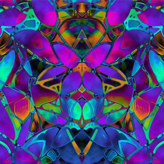 Floral Fractal Art G308 by MedusArt