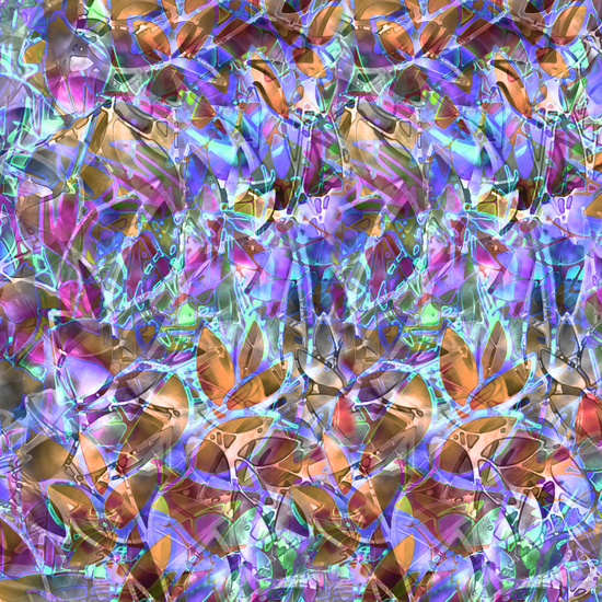 Floral Abstract Stained Glass G268 by MedusArt