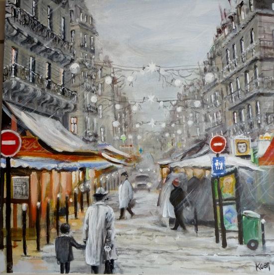 neige à Paris by Koen De Weerdt