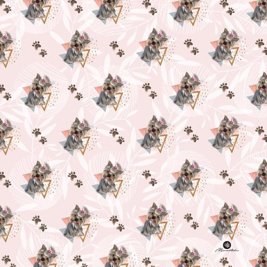 Pattern dog & triangles by mmartabc