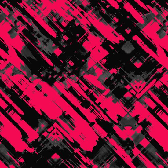 Hot pink and black digital art G75 by MedusArt