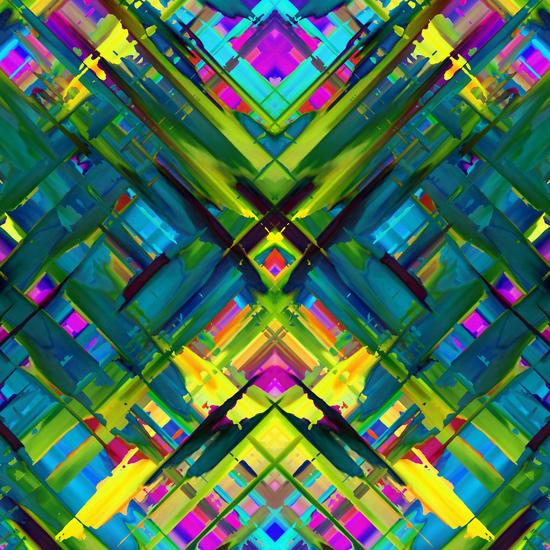 Colorful digital art splashing G467 by MedusArt