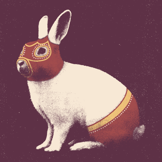 Lapin Catcheur (Rabbit Wrestler) by Florent Bodart - Speakerine