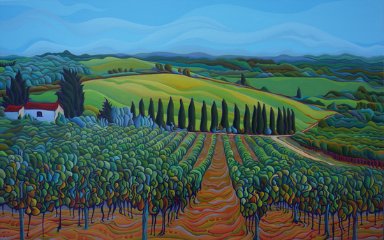 SenTrees of the Grapes by Amy Ferrari Art