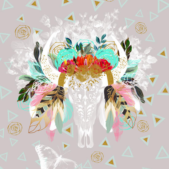 Skull fantasy boho by mmartabc
