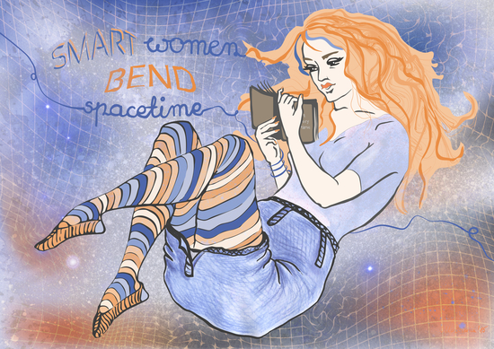 Smart women bend spacetime by IlluScientia