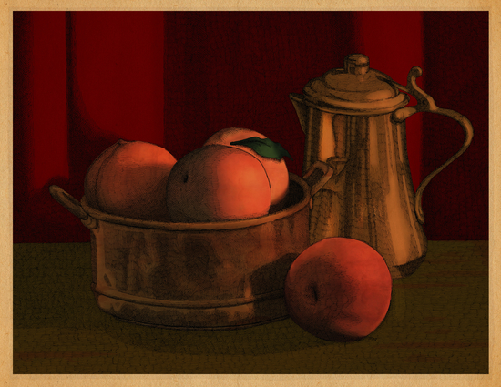 Still Life with Peaches by MegShearer