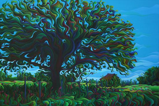 UmBrOaken Stillness by Amy Ferrari Art