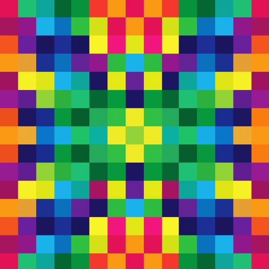 Colorful Geometric Background II by Amir Faysal