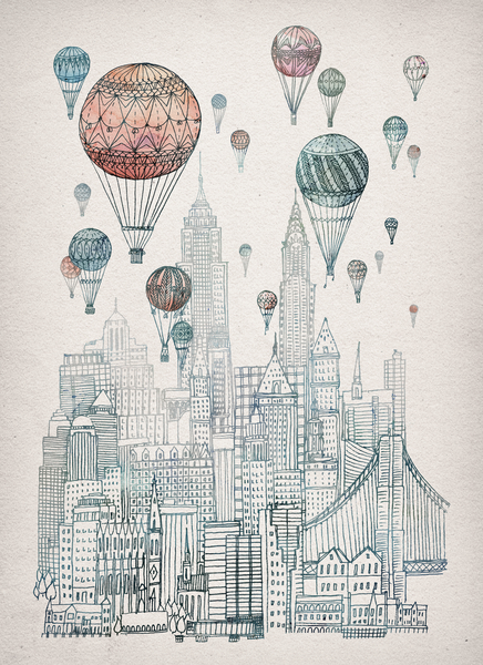 Voyages Over New York by David Fleck
