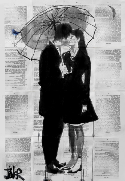 A LITTLE BIRD, A LITTLE MOON, A LITTLE LOVE by loui jover