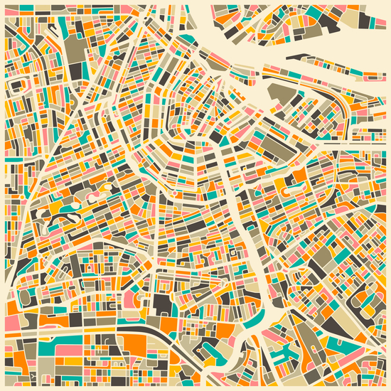 AMSTERDAM MAP 1 by Jazzberry Blue
