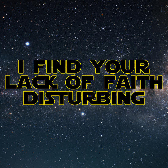 I find your lack of faith disturbing by Alexandre Ibáñez