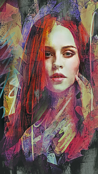 Abstract  Portrait - Ashes by Galen Valle
