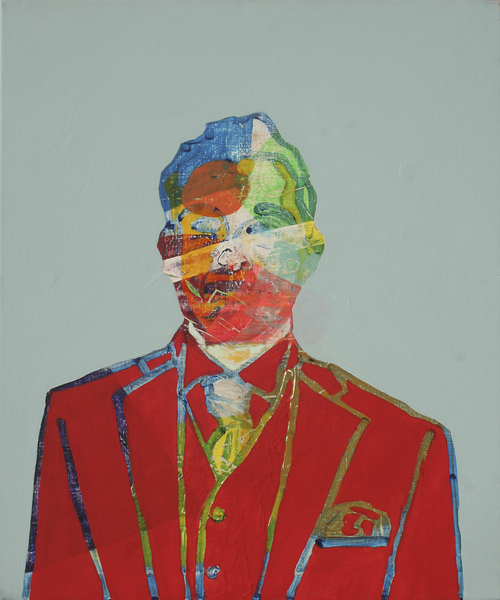Auto-portrait Rouge by Pierre-Michael Faure