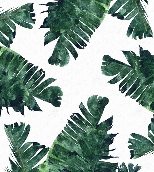 Banana Leaf Watercolor by Uma Gokhale