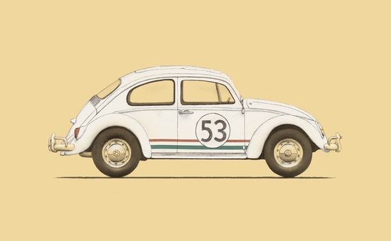 Famous Car - VW Beetle by Florent Bodart - Speakerine