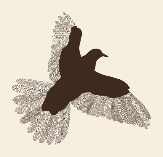 Bird (on beige) by Florent Bodart - Speakerine
