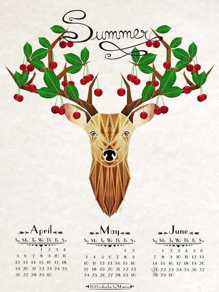 deer summer by Manoou