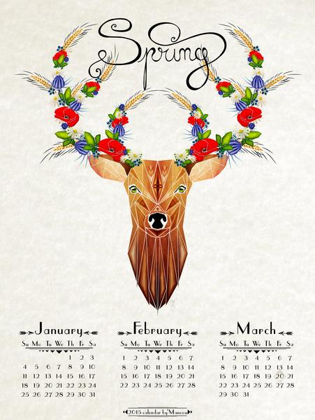deer spring by Manoou