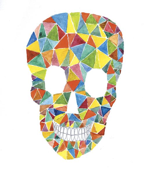 Rainbow Skull by Malixx