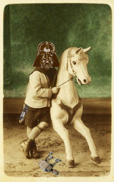 Darth Vader childhood by tzigone
