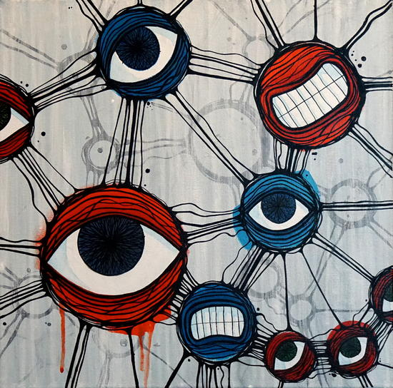 My social network is staring at me by Lev Liski