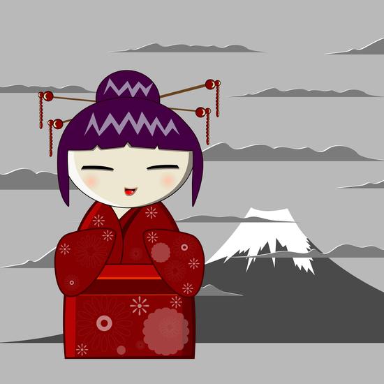Fuji kokeshi by PIEL Design