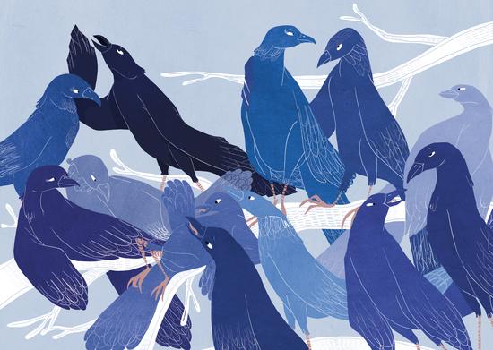les oiseaux bleus by Florehenocque