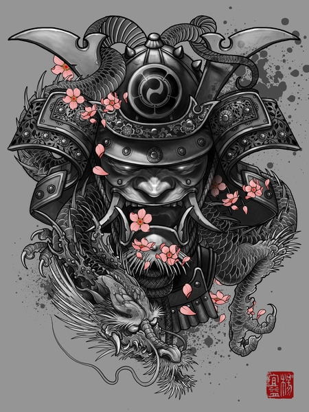 Dragon Samurai by Elvintattoo