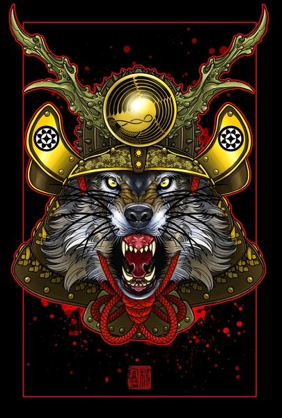 Wolf Kabuto  by Elvintattoo