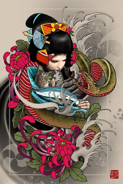 Geisha by Elvintattoo