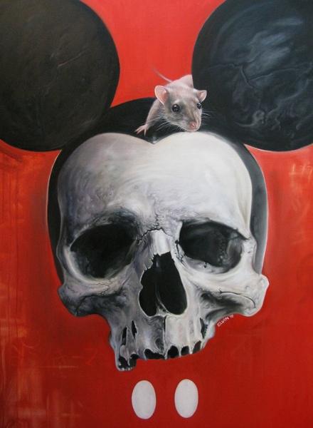 Mickey skull by Elvintattoo