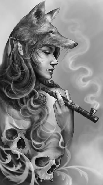 Fox Girl by Elvintattoo