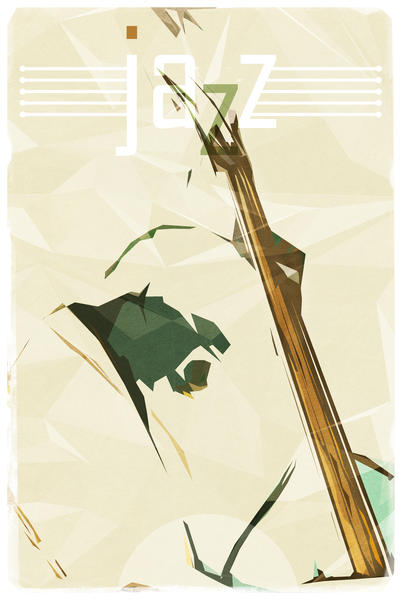 Contrabassist. Jazz Club Poster by cinema4design
