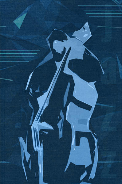 Jazz Contrabass Poster by cinema4design