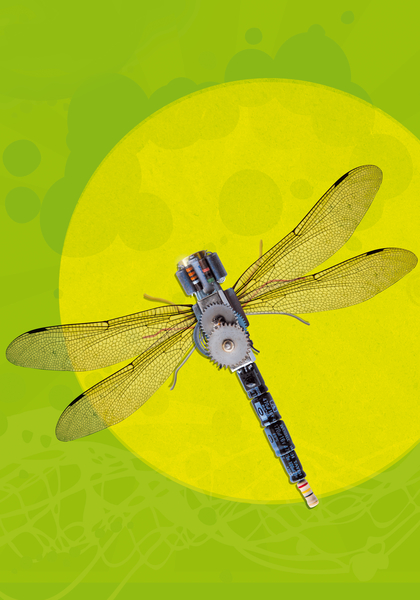 Mecanical Dragonfly by tzigone