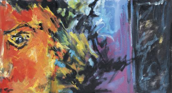 Lion Diptych - Right by Georgio Fabrello