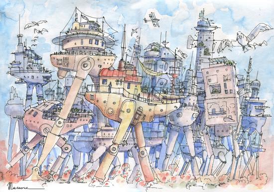 La Citta' in Movimento by Luca Massone