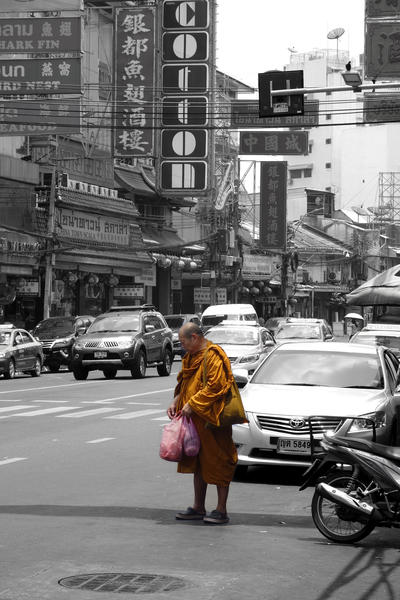 Monk in Bangkok by Ivailo K
