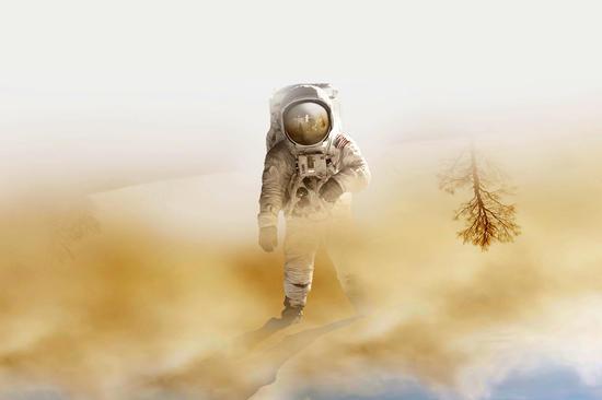 Playing Mars on the desert by fokafoka