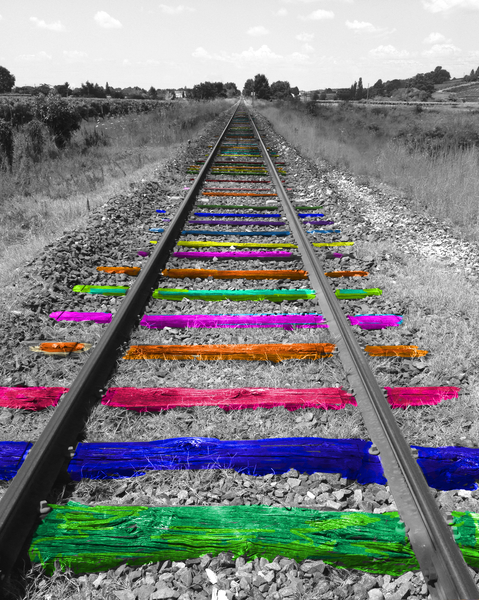 Rainbow Railway by Ivailo K